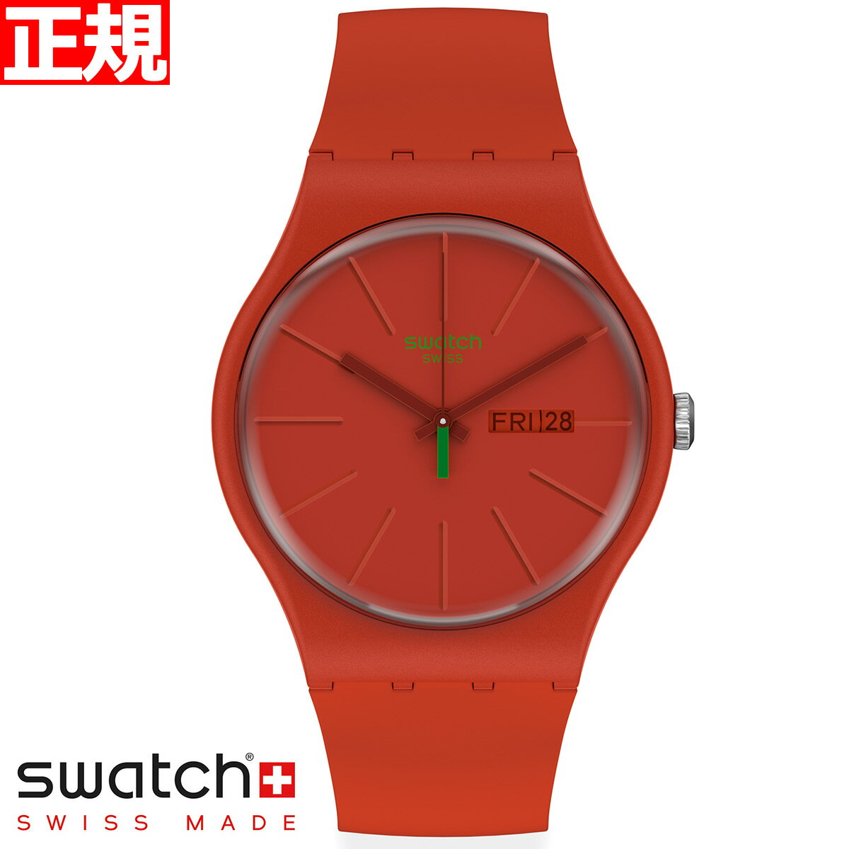 腕時計, 男女兼用腕時計 34swatch Originals New Gent REDVREMYA SO29R7002020