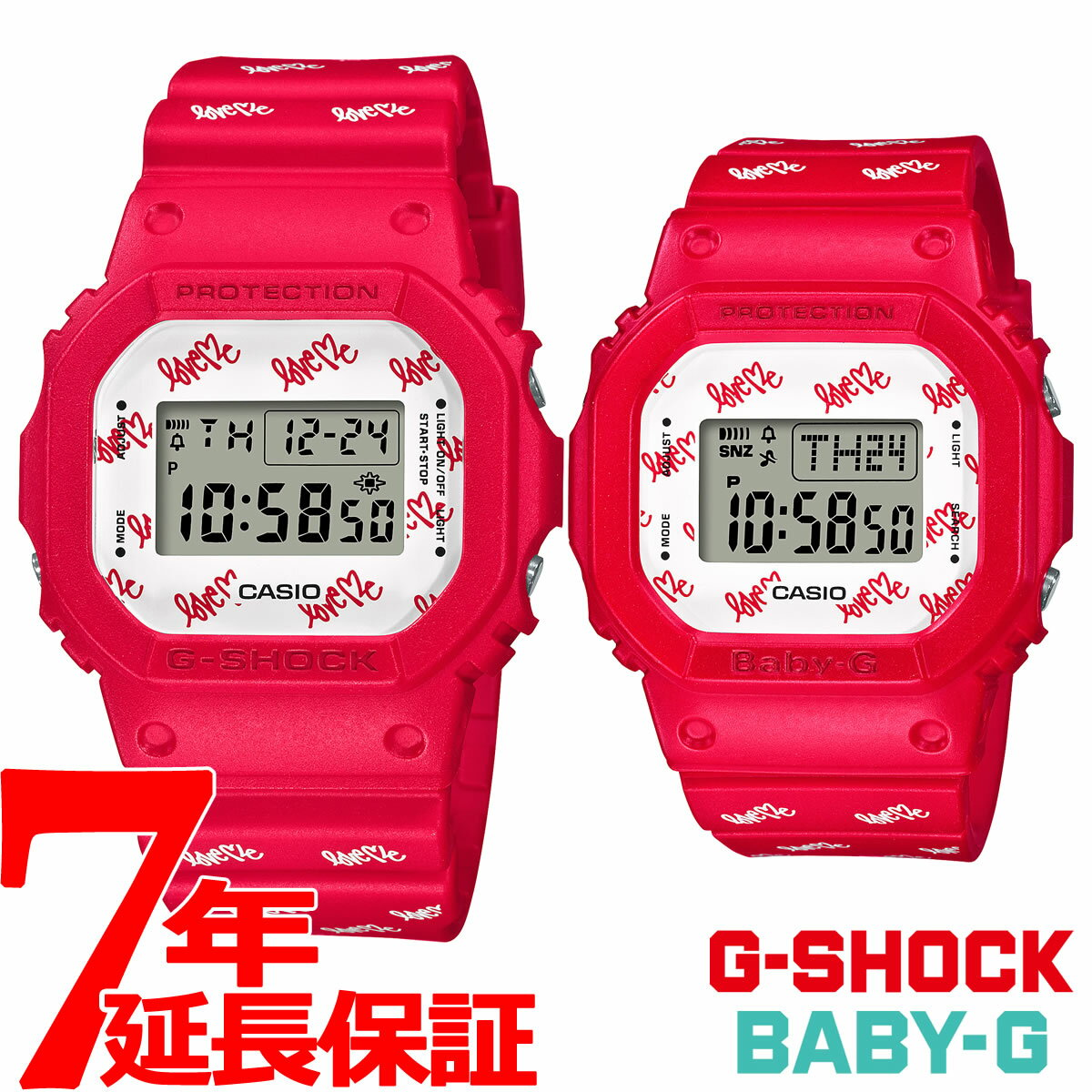 腕時計, メンズ腕時計 2000OFF58.5 CASIO 2020 G G-SHOCK G BABY-G LOV-20B-4JR2020