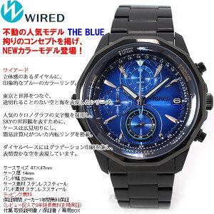 セイコーワイアードSEIKOWIRED腕セイコーSEIKOワイアードWIRED腕時計メンズTHEザBLUEブルーSKYクロノグラフAGAW421