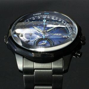 セイコーSEIKOワイアードWIRED腕時計メンズTHEザBLUEブルーSKYクロノグラフAGAW421