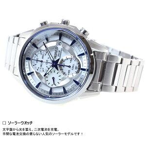 セイコーワイアードSEIKOWIREDソーラー腕時計メンズアポロAPOLLOクロノグラフAGAD061