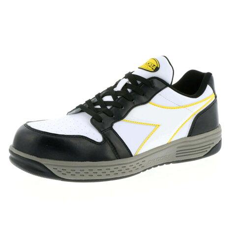 ディアドラ GR-211 (BLK+WHT+WHT) グレーブ 【先芯入り 安全靴 GREBE】