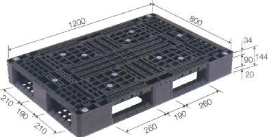 三甲 プラスチックパレット リサイクルパレット D4-812