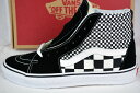 VANS (バンズ) SK8-HI US LIMITED EDITION US限定 スニーカー (MIX CHECKER) BLACK/TRUE WHITE