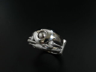 ENER[エネル]RING-07SPIRIT(心)/スピリットSV/BKギベオン隕石/メンズリング【送料無料】【_包装】
