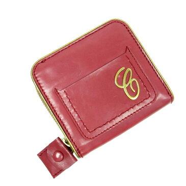 クロエ Chloe 二つ折り財布 レッド レザー レディース 9800円均一【中古】【定番人気】 - t8689
