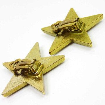 シャネルCHANELイヤリングココマーク星型◆ベージュxゴールド金属素材◆定番人気【】◆レディース-t10020