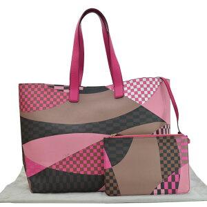 EMILIO PUCCI Bag Pink x Brown x Black x White Leather Shoulder Bag Tote Bag Ladies [Used] [Classic Popular]-51037
