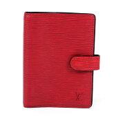 【中古】ルイヴィトン Louis Vuitton 手帳カバー エピ アジェンダPM ◆カスティリアン・レッド エピレザー ◆定番人気 ◆レディース メンズ R2005E - y11621
