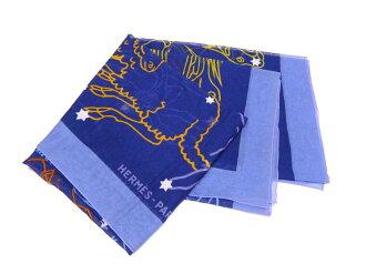 愛馬仕愛馬仕披肩星座明星 12 星座星座生肖 ◆ 藍色藍色藍色的棉 100%棉 • 經典流行圍巾超大的圍巾 ◆ 女裝男裝 e25472