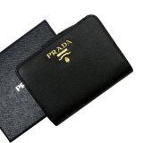 プラダ PRADA 二つ折り財布 NERO(ブラック) サフィアーノレザー レディース 【中古】【おすすめ】 - 52287d