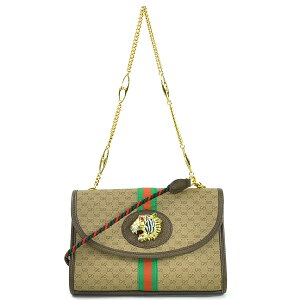 Gucci Shoulder Bag Raja GG Small Shoulder Bag Beige x Brown GG Supreme Canvas x Leather GUCCI Women's 570145 Premium Special [Used] [Recommended]-98095b