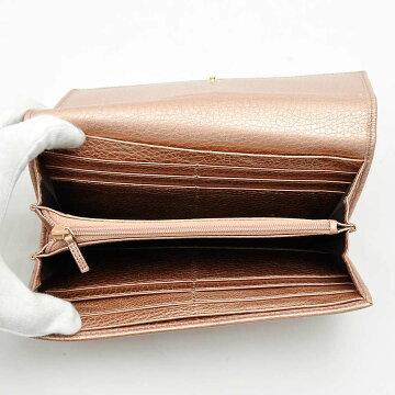 グッチGUCCI財布インターロッキングGメタリックピンクレザー長財布二つ折り財布レディース282414送料無料【】【定番人気】-v22668