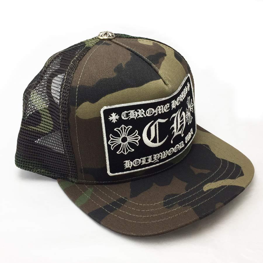 クロムハーツ Chrome Hearts 帽子 トラッカーキャップ トラッカーキャップ CHクロス カモフラージュ ダークグリーン×ダークブラウン(迷彩柄) コットン×シルバー925 ☆セール 【新品】 - 41242:ブランドバリュー