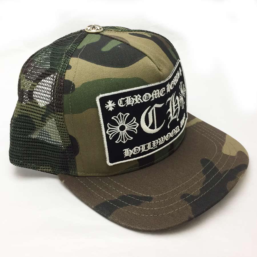 クロムハーツ Chrome Hearts 帽子 トラッカーキャップ トラッカーキャップ CHクロス カモフラージュ ダークグリーン×ダークブラウン(迷彩柄) コットン×シルバー925 ☆セール 【新品】 - 41245:ブランドバリュー