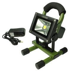 10Wで超明るい!充電式LED投光器!AP 10W 充電式LED投光器【作業灯 ワークライト】【LED 明かり...