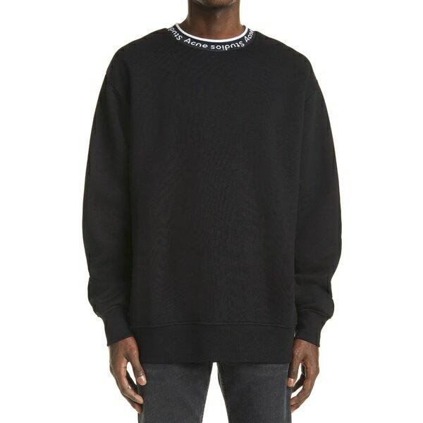 トップス, パーカー  Mens Fulton Logo Rib Crewneck Sweatshirt Black