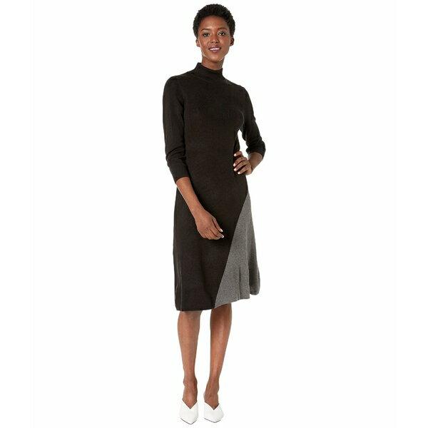 スーツ・セットアップ, ワンピーススーツ  Color Block Angle Bottom Dress BlackHeather Charcoal