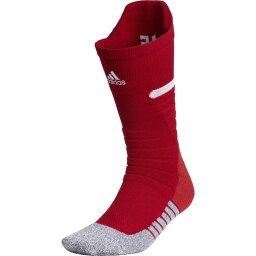 アディダス メンズ 靴下 アンダーウェア adidas Men's adizero Football Crew Socks Red
