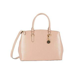 حقيبة يد نسائية من رالف لورين ، حقيبة سافيانو بسحاب مزدوج ، حقيبة كبيرة ، وردي فاتح