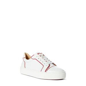 أحذية رياضية كريستيان لوبوتان Vieirissima منخفضة أعلى حذاء أبيض / أحمر