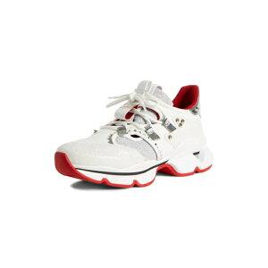 Christian Louboutin 여성 스니커즈 신발 레드 러너 스니커즈 화이트