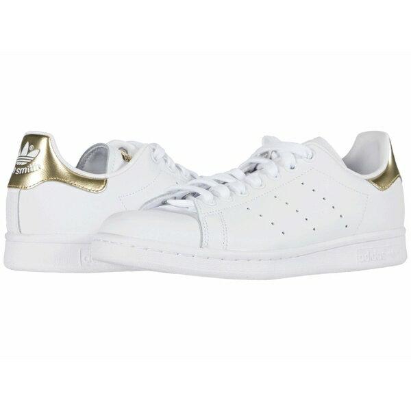 アディダスオリジナルス レディース スニーカー シューズ Stan Smith Footwear White/Footwear White/Gold Metallic