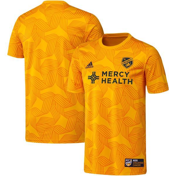 トップス, ベスト・ジレ  FC Cincinnati adidas 2019 MLS Works Kick Childhood Cancer PreMatch Top Yellow