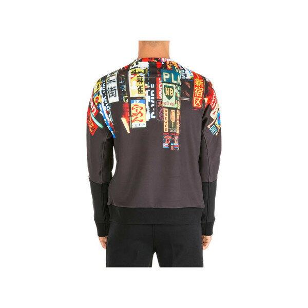 ニールバレット メンズ パーカー・スウェットシャツ アウター Neil Barrett Sweatshirt Sweat Slim Fit Shinjuku Soho Nero