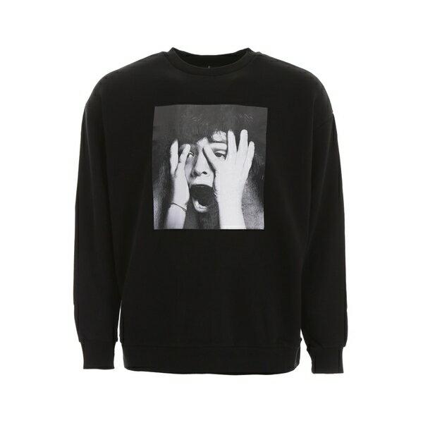 マルセロバーロン メンズ パーカー・スウェットシャツ アウター Marcelo Burlon Scared Face Sweatshirt BLACKMULTICOLORBlack