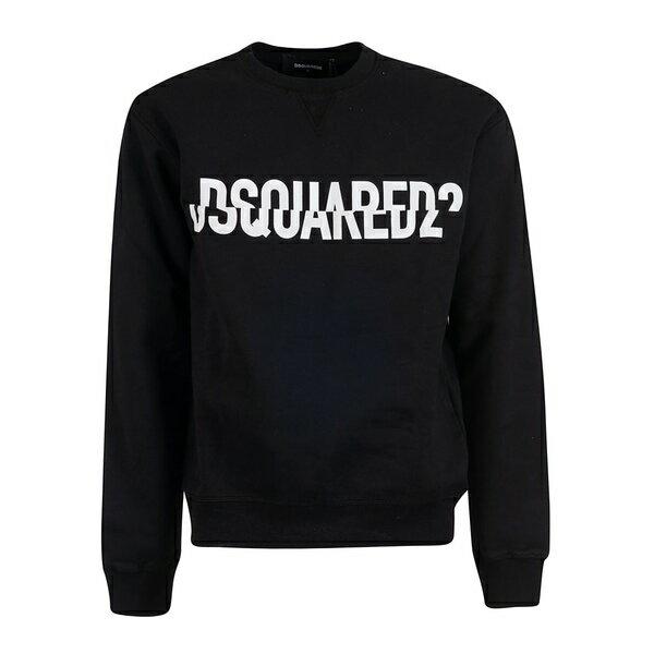 ディースクエアード メンズ パーカー・スウェットシャツ アウター Dsquared2 Printed Logo Sweatshirt C