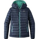 パタゴニア レディース ジャケット&ブルゾン アウター Patagonia Down Sweater Full-Zip Hooded Jacket - Women's Navy Blue/Strait Blue