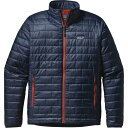 パタゴニア メンズ ジャケット&ブルゾン アウター Patagonia Nano Puff Insulated Jacket - Men's Navy Blue/Paintbrush Red