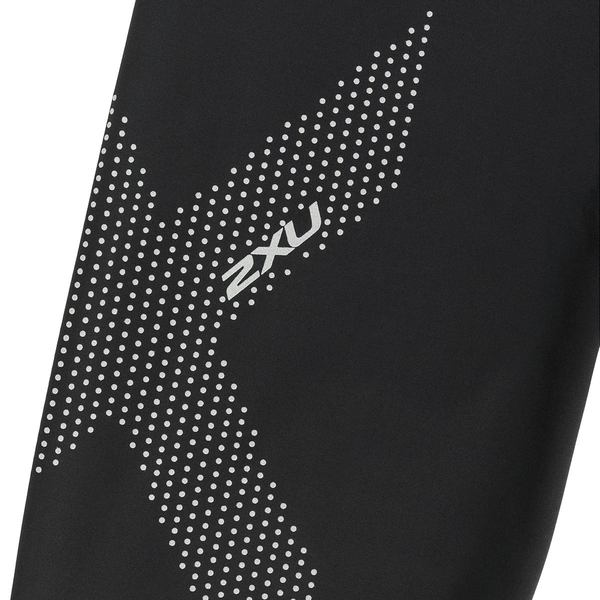2XU レディース サイクリング スポーツ Mid-Rise Compression Tights Black/Dotted Reflective Logo