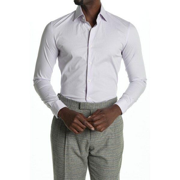 トップス, カジュアルシャツ  Oxider Slim Fit Classic Dress Shirt LILAC