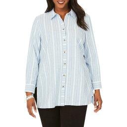フォックスクラフト レディース カットソー トップス Edison Button Front Shirt Serene Blue