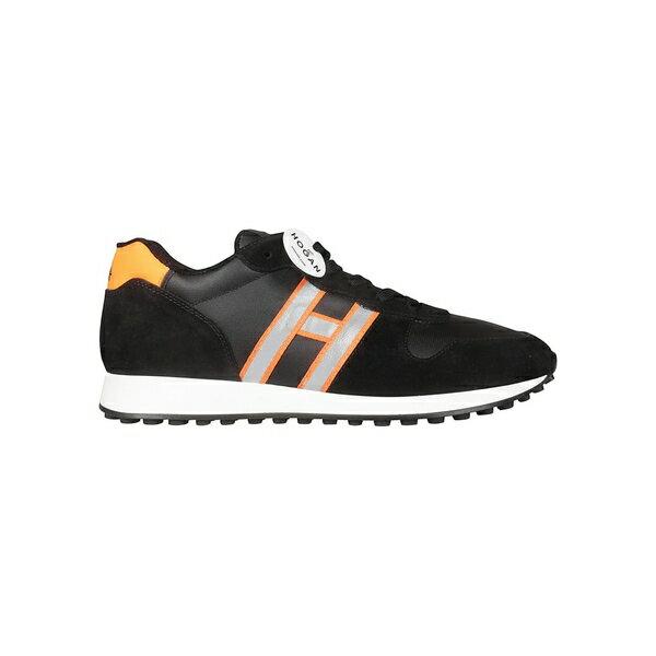 ホーガン メンズ スニーカー シューズ Hogan Logo Patch Sneakers Black