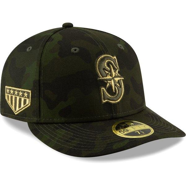 メンズ帽子, キャップ  Seattle Mariners New Era MLB Armed Forces Day On-Field Low Profile 59FIFTY Fitted Hat Camo
