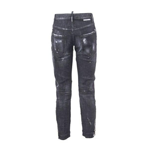 ディースクエアード レディース デニムパンツ ボトムス Dsquared2 Black Denim Skinny Dan Jeans Nero