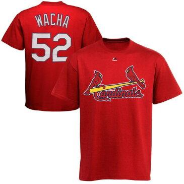 マジェスティック メンズ Tシャツ トップス Michael Wacha St. Louis Cardinals Majestic Official Name and Number TShirt Red