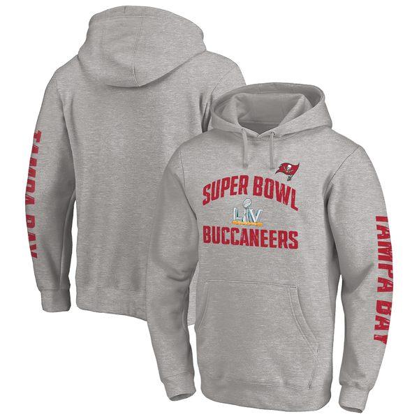 トップス, パーカー  Tampa Bay Buccaneers Fanatics Branded Super Bowl LV Bound Replay 2Hit Pullover Hoodie Heather Gray
