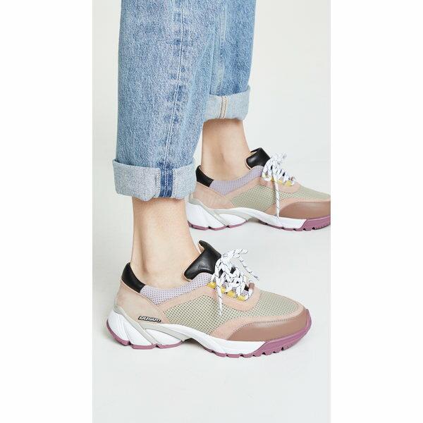 アクセルアリガト レディース スニーカー シューズ System Runner Sneakers Taupe/Pink