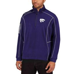 コロンビア メンズ ジャケット&ブルゾン アウター Kansas State Wildcats Columbia Golf Shotgun OmniWick QuarterZip Pullover Jacket Purple
