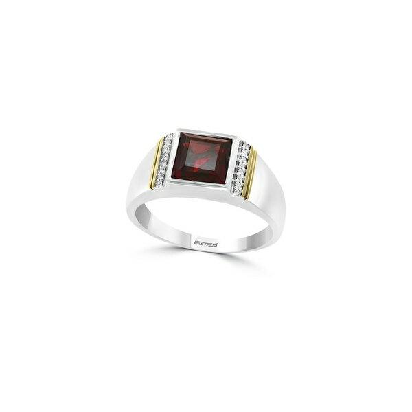 エフィー レディース リング アクセサリー Gento Garnet and Diamond Sterling Silver and 14K Yellow Gold Ring Silver