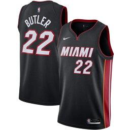 ナイキ メンズ ユニフォーム トップス Jimmy Butler Miami Heat Nike 2020/21 Swingman Jersey Black Icon Edition