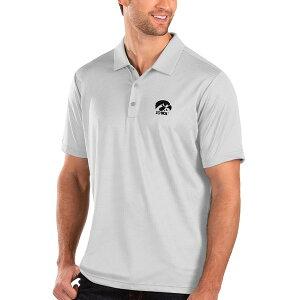 アンティグア メンズ ポロシャツ トップス Iowa Hawkeyes Antigua Balance Polo White