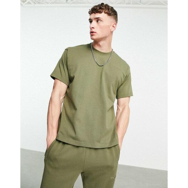 トップス, Tシャツ・カットソー  T adidas Originals x Pharrell Williams premium t shirt in khaki Khaki