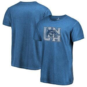 ファナティクス メンズ Tシャツ トップス New Hampshire Wildcats Fanatics Branded College Vault Primary Logo Shadow Washed T-Shirt Navy