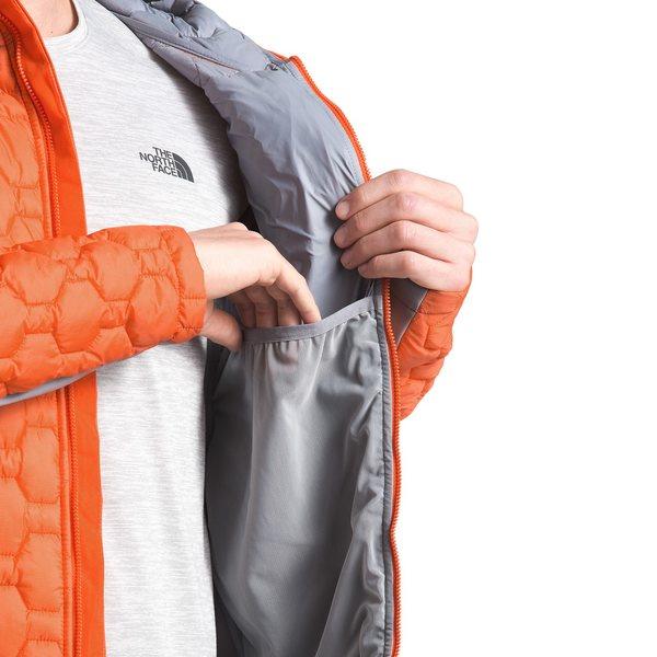 ノースフェイス メンズ Tシャツ トップス The North Face Impendor ThermoBall Hybrid Hoodie Persian Orange/Mid Grey