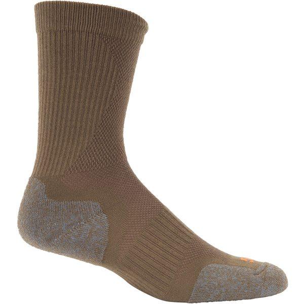 靴下・レッグウェア, 靴下 5.11 5.11 Tactical Adult Slip Stream Crew Socks DarkCoyote